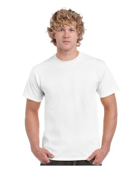 Gildan 5000 Heavy Cotton White T Shirt
