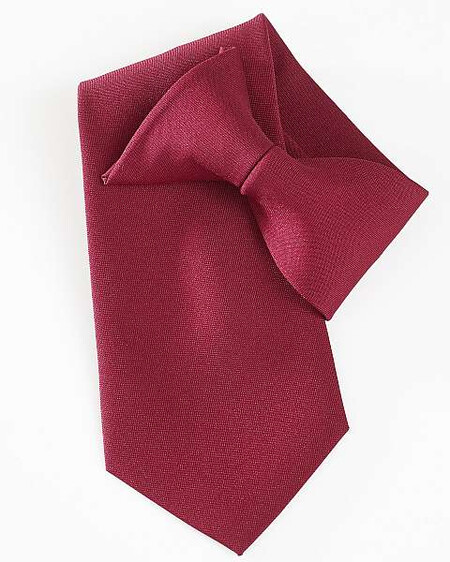 burgundy clip on Tie