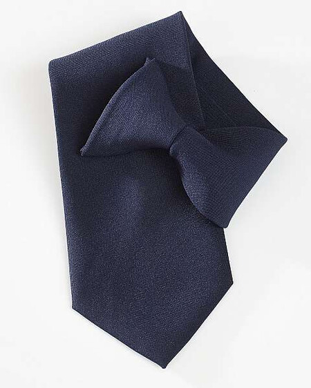 navy clip on Tie