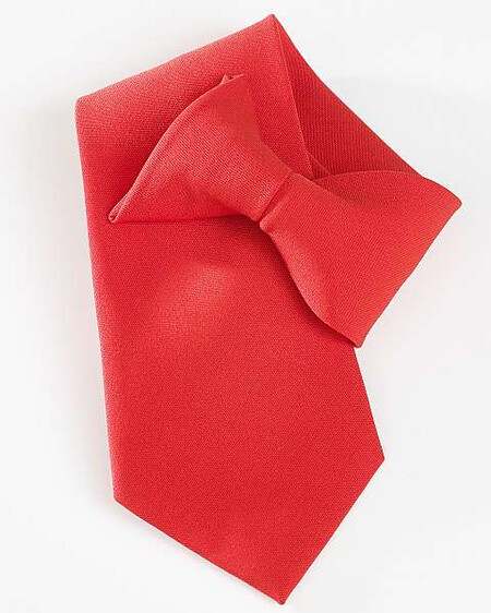 Red clip on tie