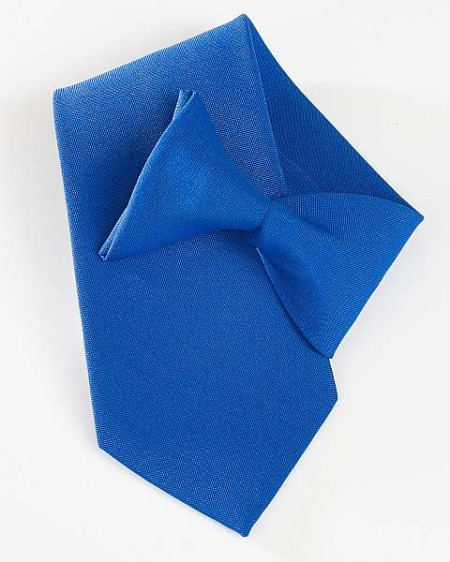 Royal blue clip on tie