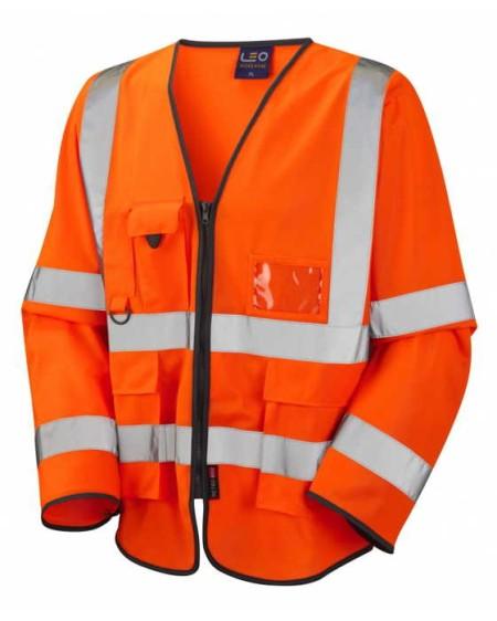 Orange Long sleeve hi vis vest
