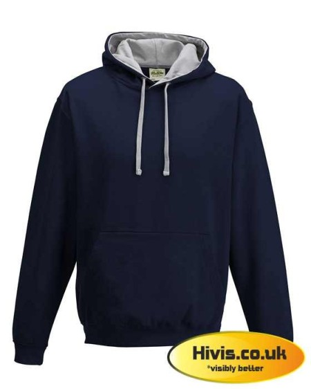 Awdis JH003 French Navy/Heather Grey