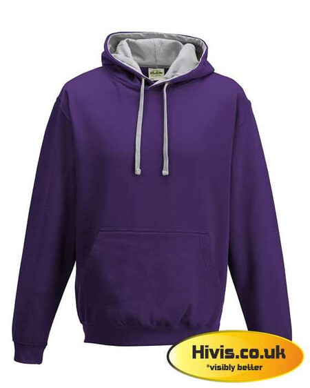 Awdis JH003 Purple/Heather Grey