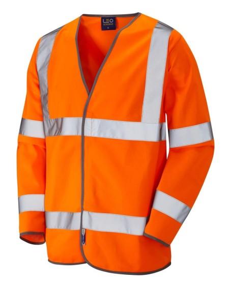 Orange long sleeved hi vis vest S01