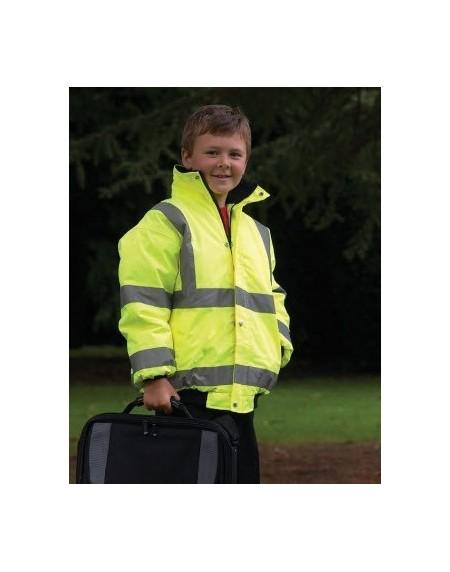 Kids-childrens Hi Vis bomber Jacket