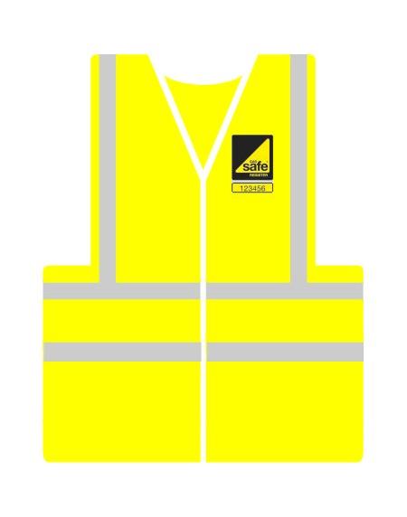 Gas Safe printed hi visibility vest with Gas safe logo