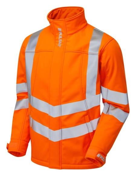 Pulsarail Orange Hi Vis Soft Shell Jacket PR535