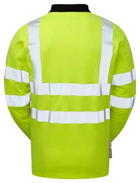 Flame Retardant Anti Static Long Sleeve Hi Vis Polo Shirt