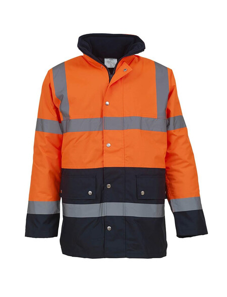 Orange and Blue Hi Vis coat