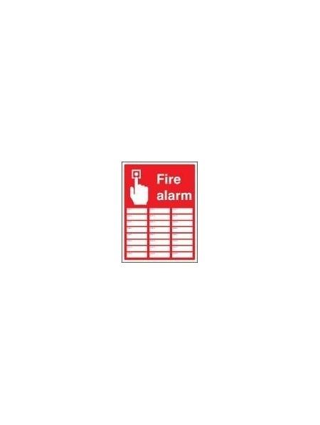 Fire alarm zones 24 sign