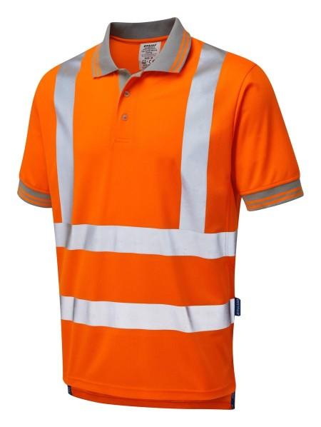 Pulsarail Orange Hi Vis Rail Poloshirt PR176