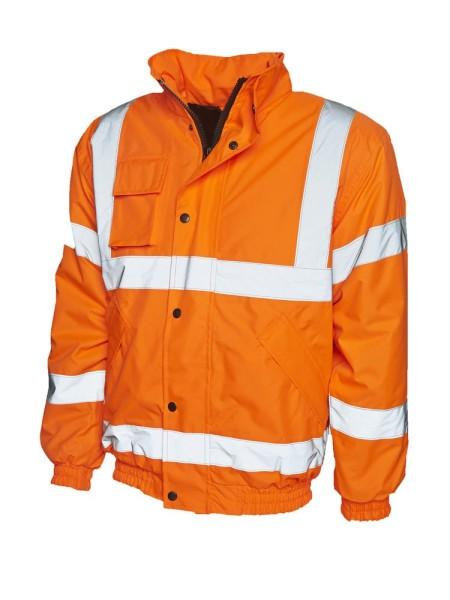 UC804 Uneek Hi Vis Bomber Jacket Orange