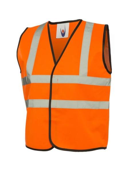 UC806 Uneek Orange Kids Hivis Vest