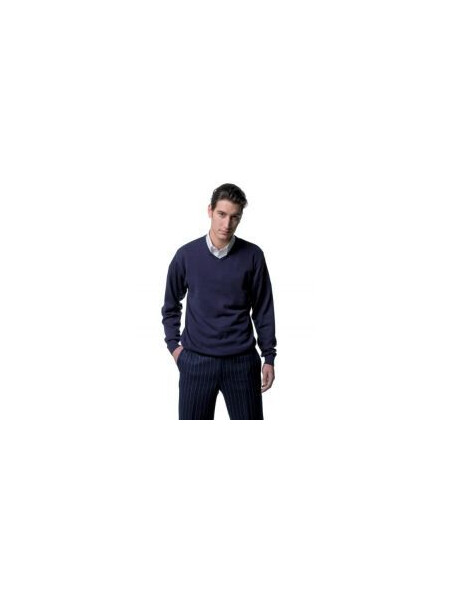 Russell J710M V-neck true knit sweater