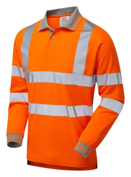 Pulsarail Orange Hi Vis Longsleeve Poloshirt PR470