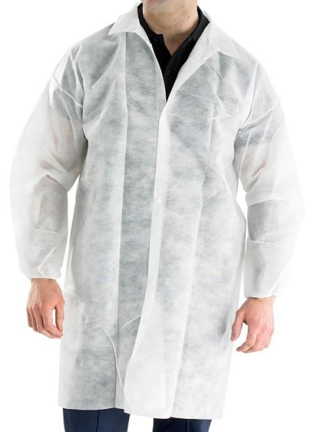 Disposable Coat Polypropelene White