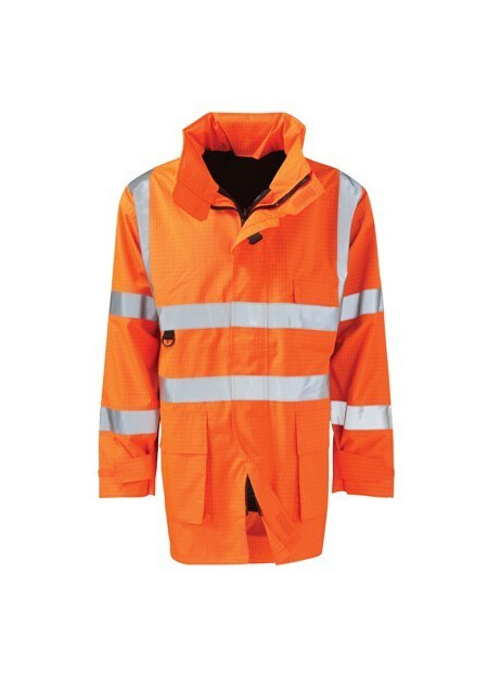 Flame Retardant Anti Static Hi Vis Coat en1149 en534