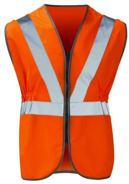 HVW05P Orange Rail Pull Apart Hivis Vest