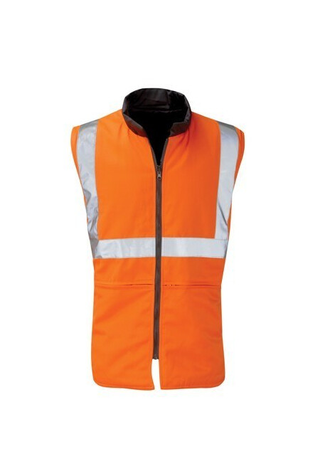 Hi Vis Reversible Orange Bodywarmer