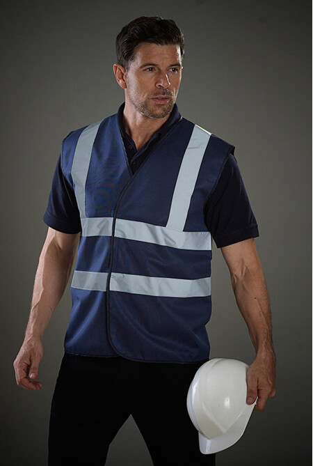 Navy Blue Hi vis safety Vest