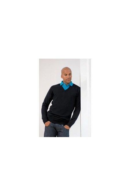 Henbury HB720,12 Gauge V-NECK JUMPER