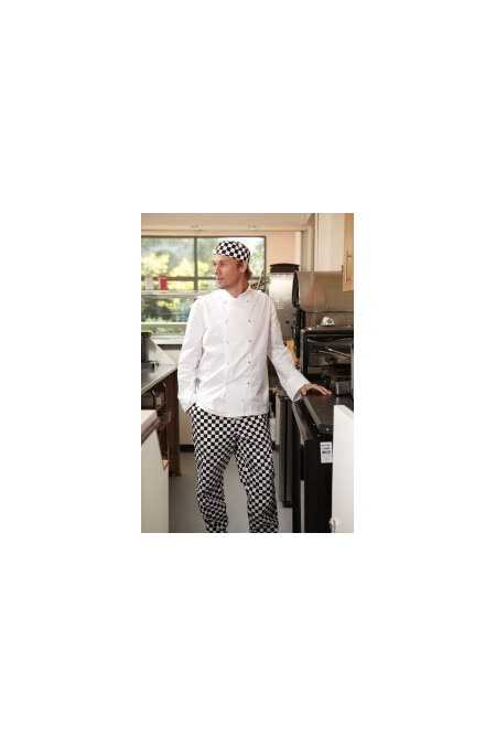 Dennys White Chef Jacket DD08 Long Sleeve