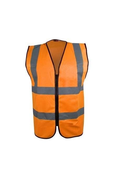 Orange Zip up Hi Vis vest
