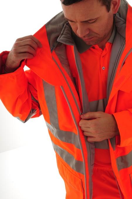 Pulsar 7 in 1 Interactive Orange Hi Vis Coat PR497