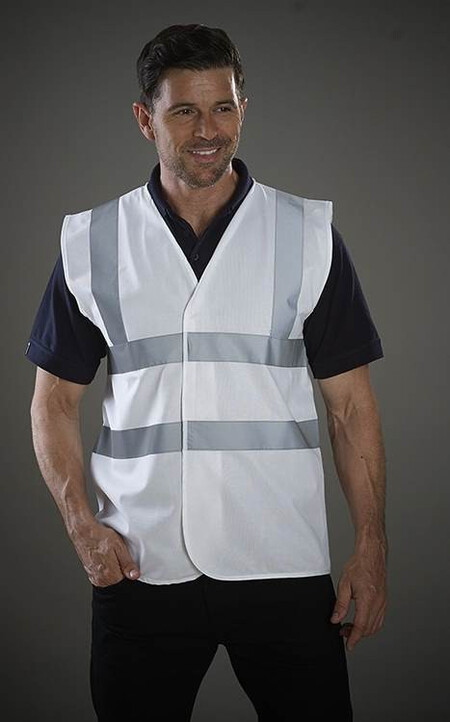 White Hi Vis safety vest