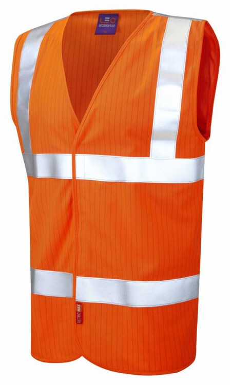 Orange flame retardant and anti static vest