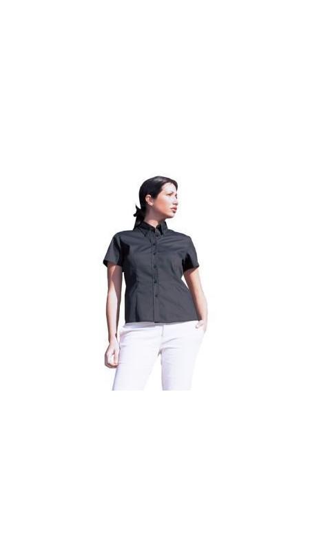 Uneek UC704 Ladies Pinpoint Oxford Half Sleeve Shirt