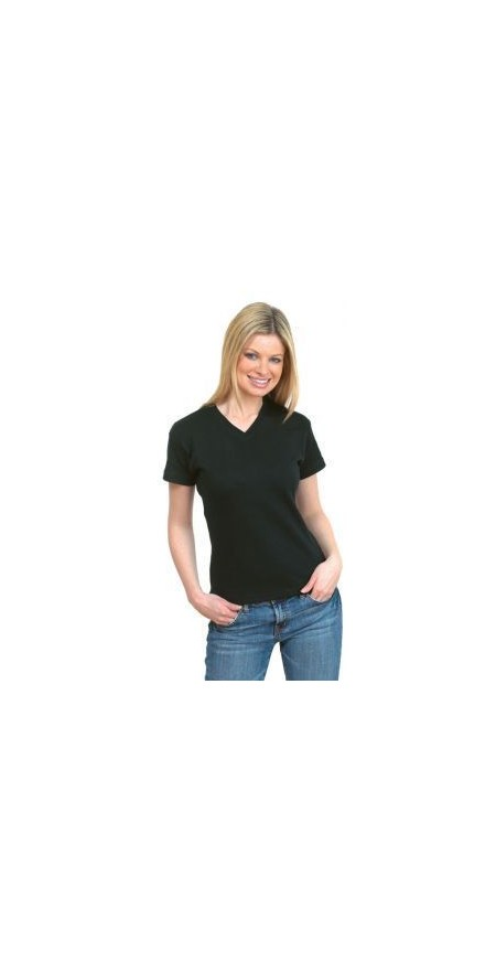 Uneek UC304 220GSM Ladies V-neck Premium includes your logo
