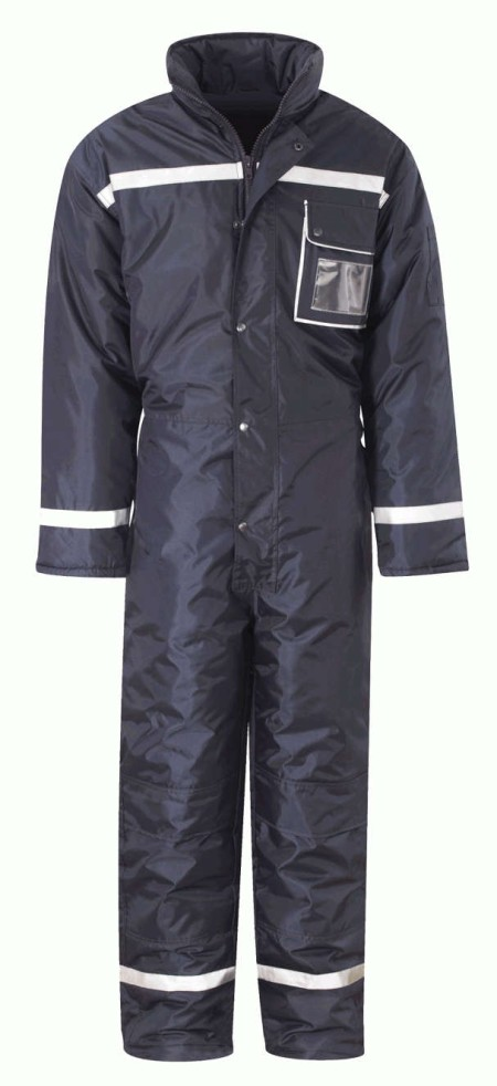 One piece freezer coverall  to en342